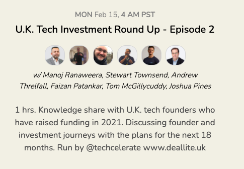 UK Tech Investment Round Up - Episode 2