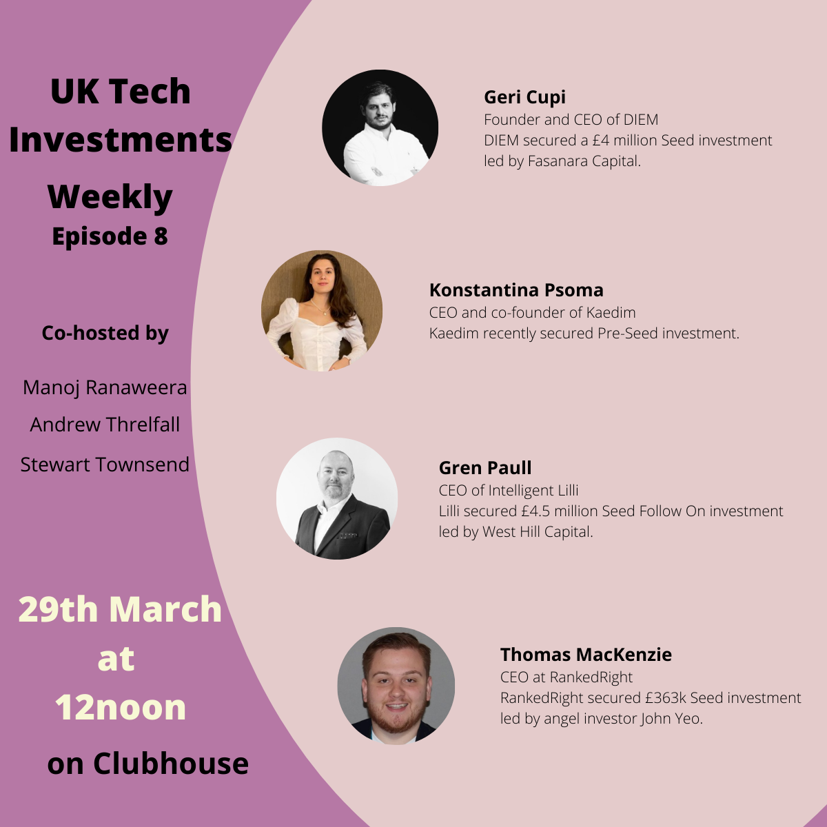 UK Tech Investments Weekly 8
