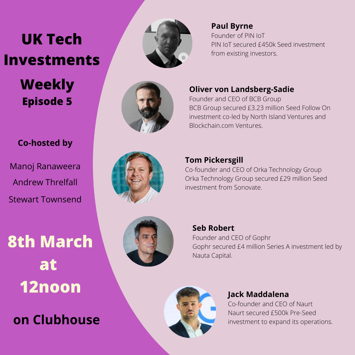 Techcelerate Weekly 5 for Clubhouse